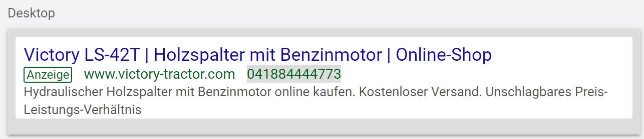 Ads Anzeige Desktop